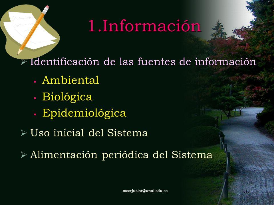 1.Información Ambiental Biológica Epidemiológica