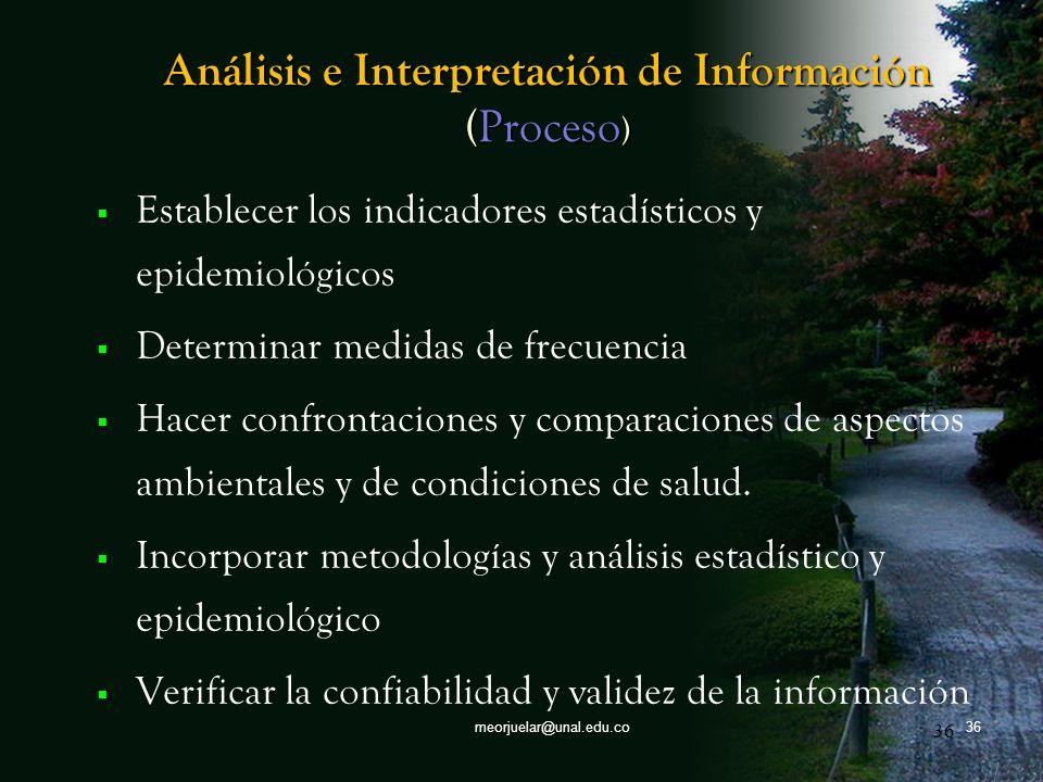 Análisis e Interpretación de Información (Proceso)
