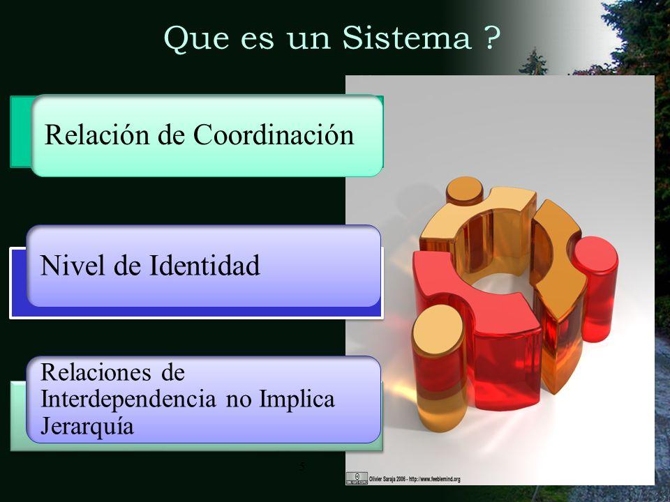 Que es un Sistema Relación de Coordinación Nivel de Identidad