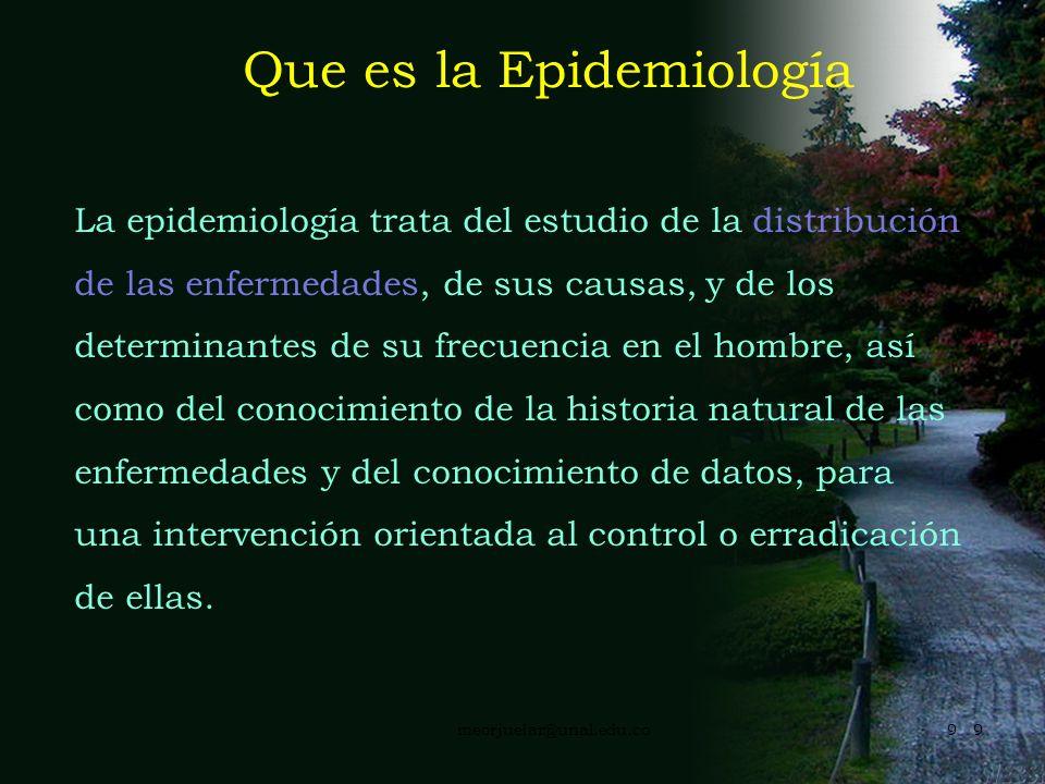 Que es la Epidemiología