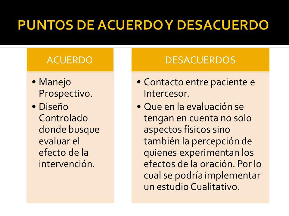 PUNTOS DE ACUERDO Y DESACUERDO