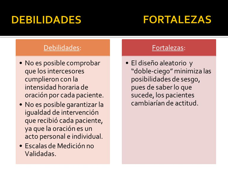 DEBILIDADES FORTALEZAS Debilidades: