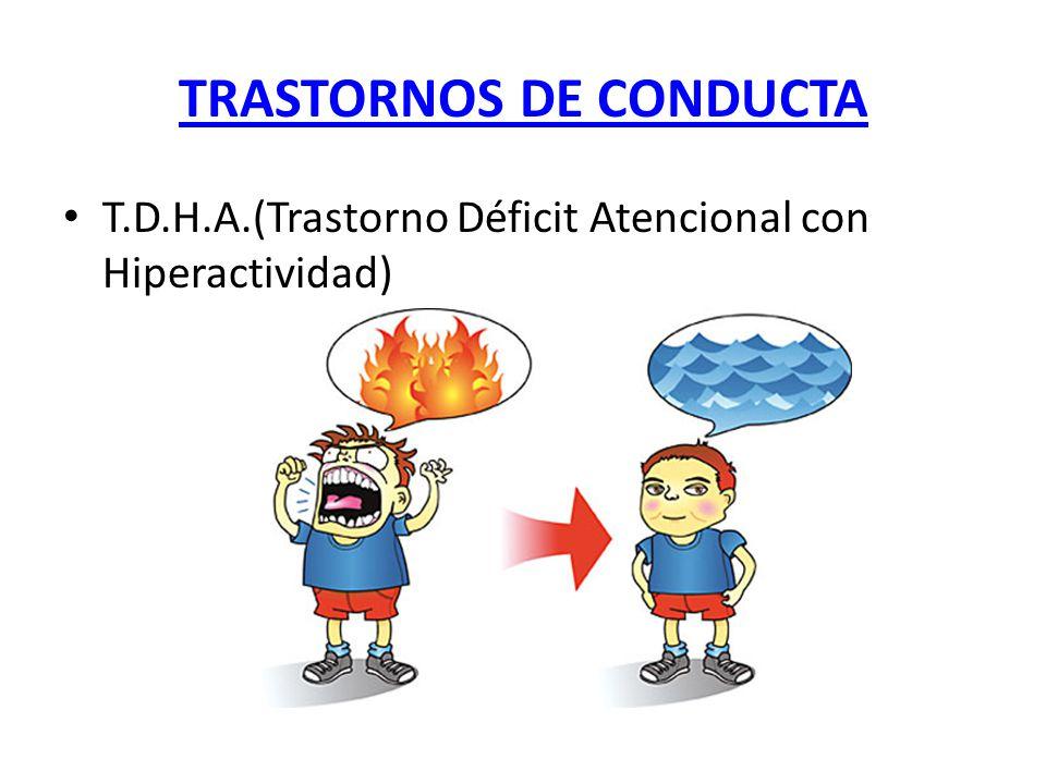 TRASTORNOS DE CONDUCTA