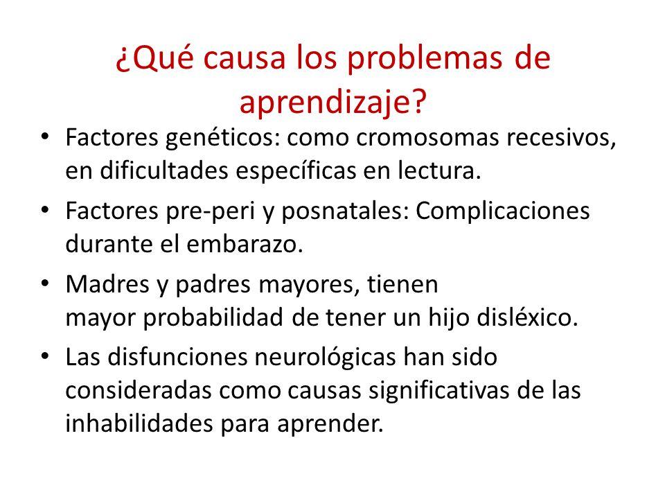 ¿Qué causa los problemas de aprendizaje