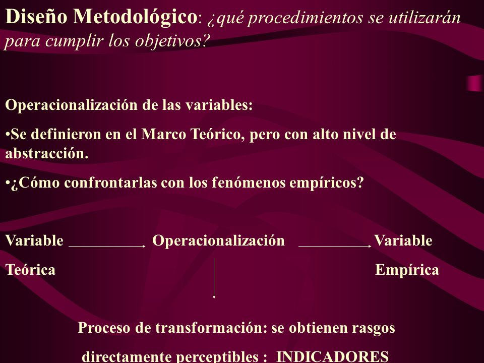 Diseño Metodológico: ¿qué procedimientos se utilizarán para cumplir los objetivos