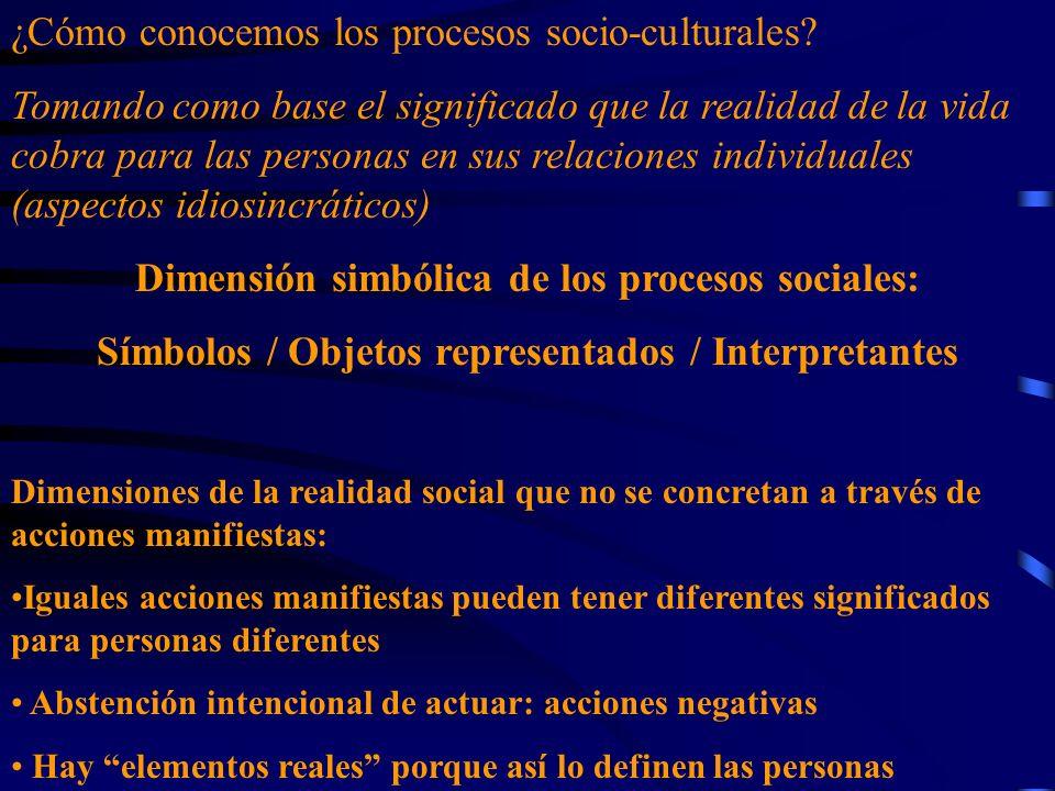 ¿Cómo conocemos los procesos socio-culturales