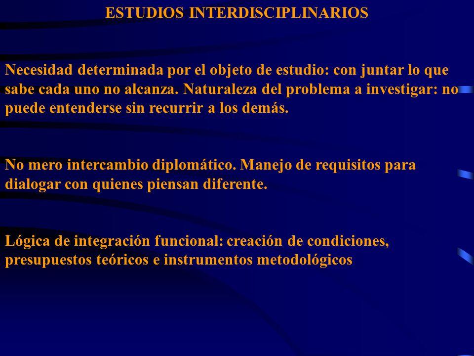 ESTUDIOS INTERDISCIPLINARIOS