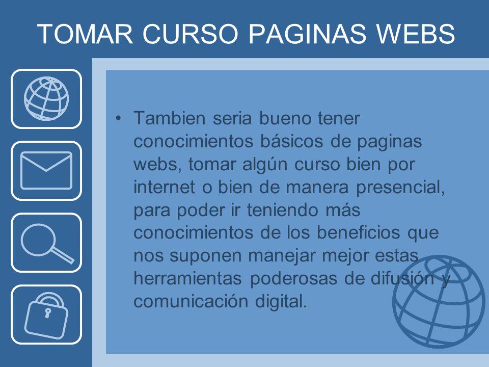 TOMAR CURSO PAGINAS WEBS