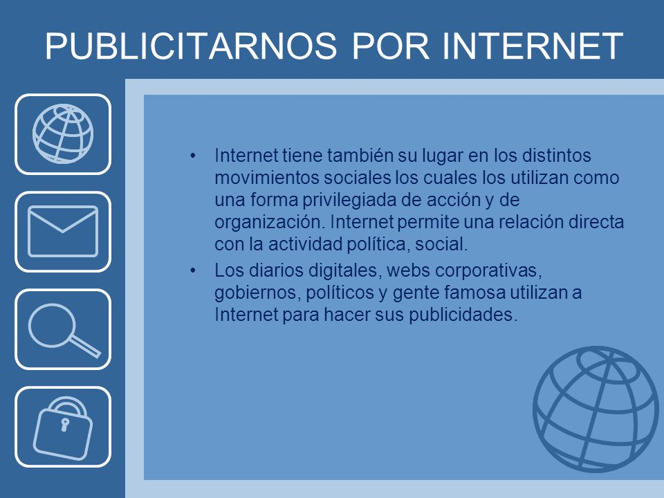 PUBLICITARNOS POR INTERNET