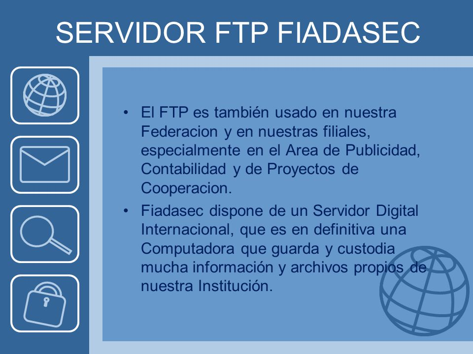 SERVIDOR FTP FIADASEC