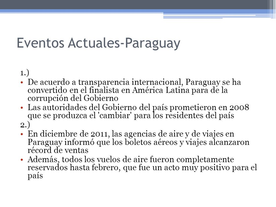 Eventos Actuales-Paraguay