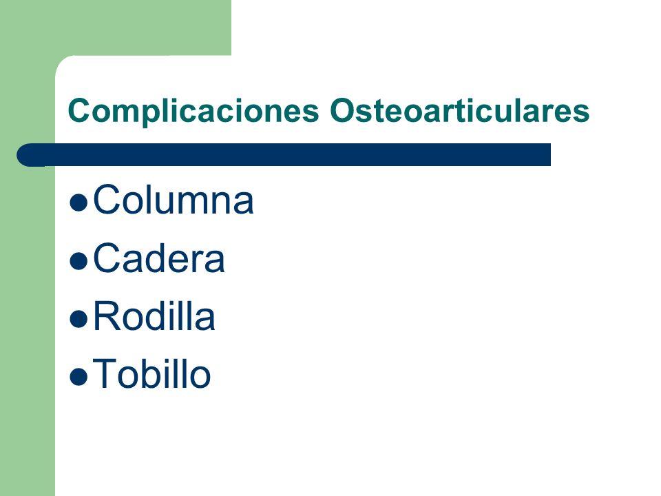 Complicaciones Osteoarticulares