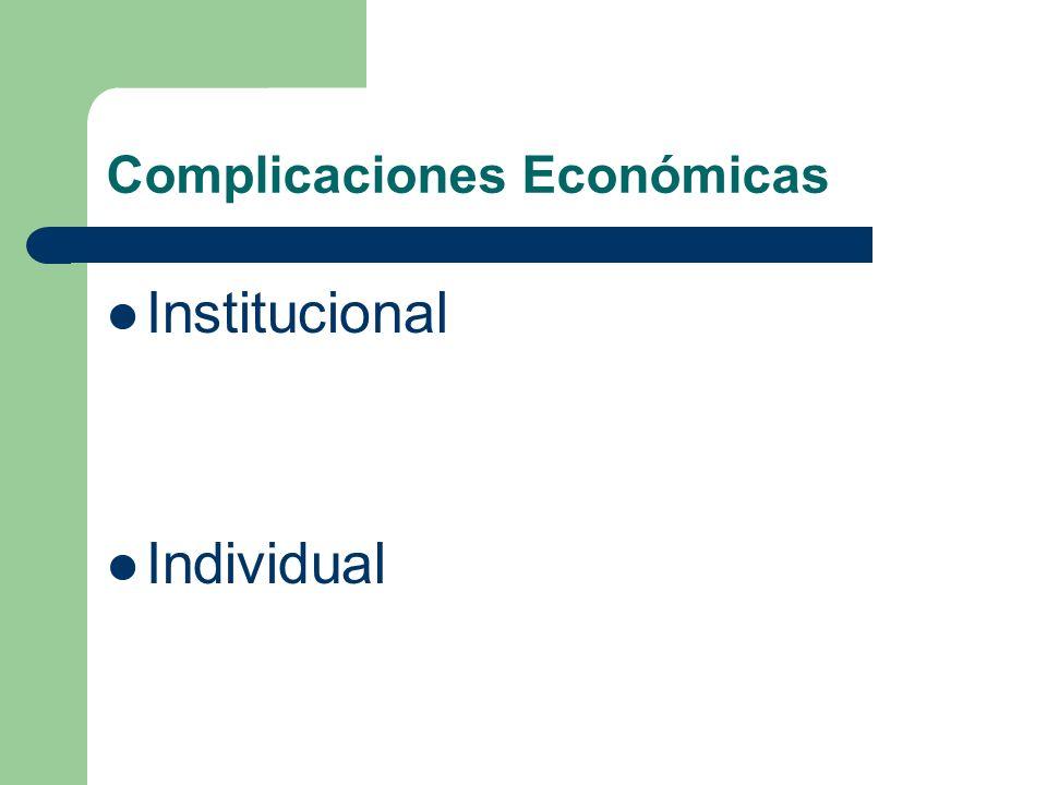 Complicaciones Económicas