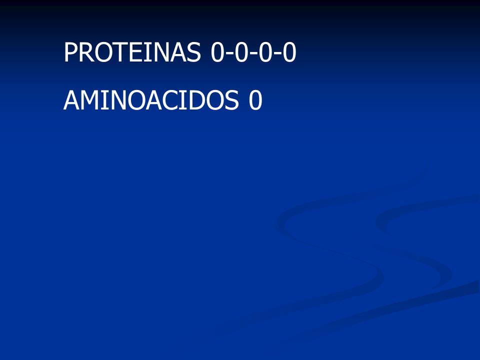 PROTEINAS 0-0-0-0 AMINOACIDOS 0