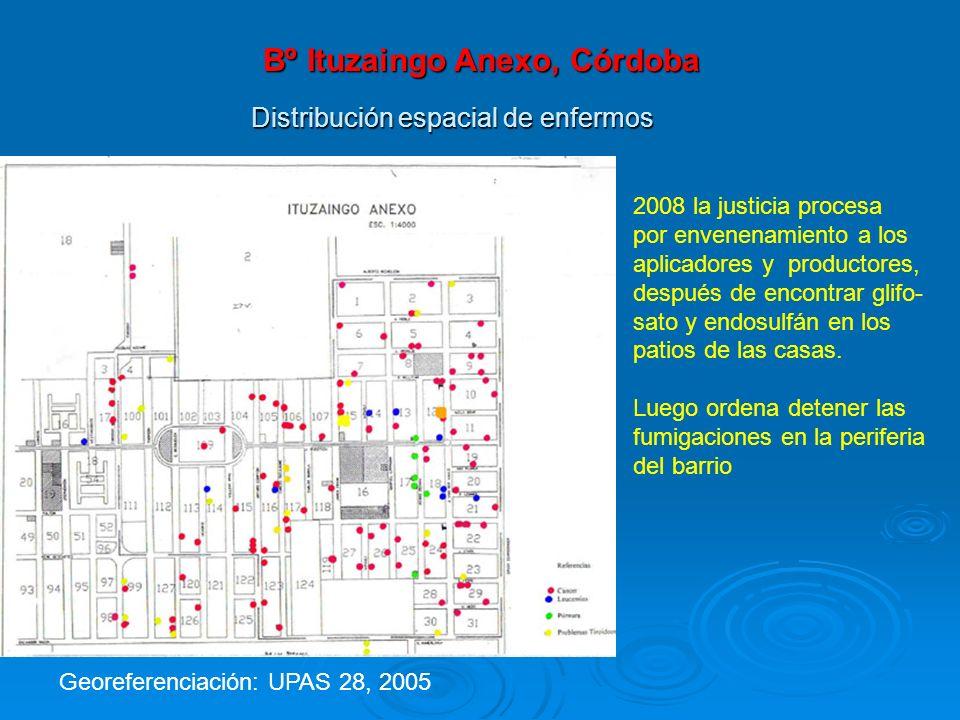 Distribución espacial de enfermos