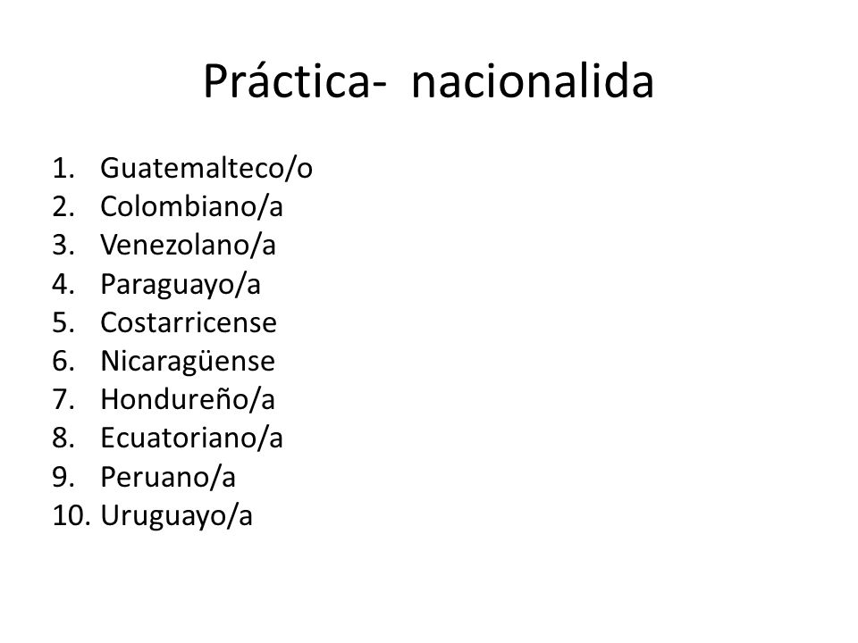 Práctica- nacionalida