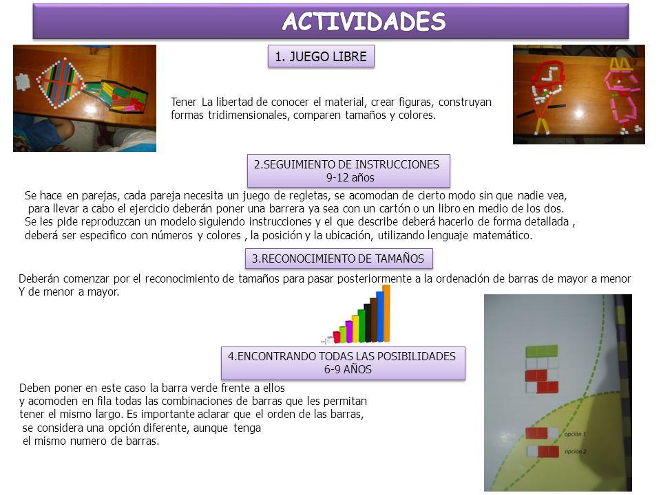 ACTIVIDADES 1. JUEGO LIBRE