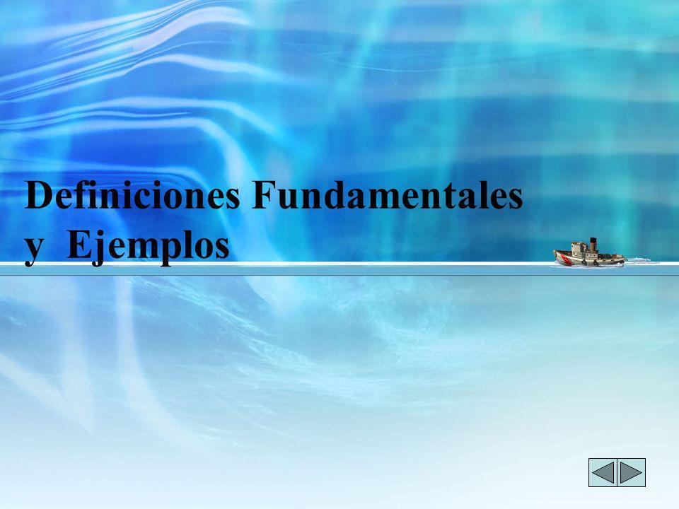 Definiciones Fundamentales y Ejemplos
