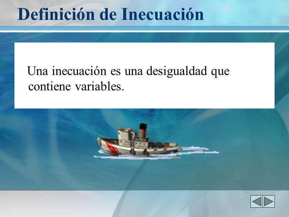 Definición de Inecuación