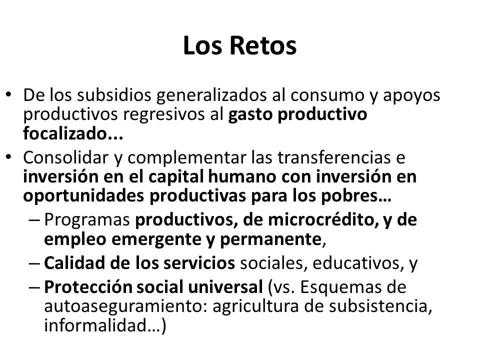 Los Retos De los subsidios generalizados al consumo y apoyos productivos regresivos al gasto productivo focalizado...