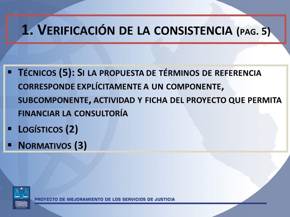1. Verificación de la consistencia (pag. 5)