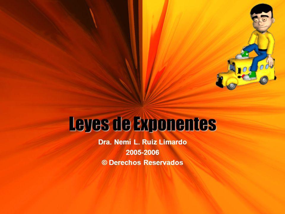 Dra. Nemí L. Ruiz Limardo 2005-2006 © Derechos Reservados