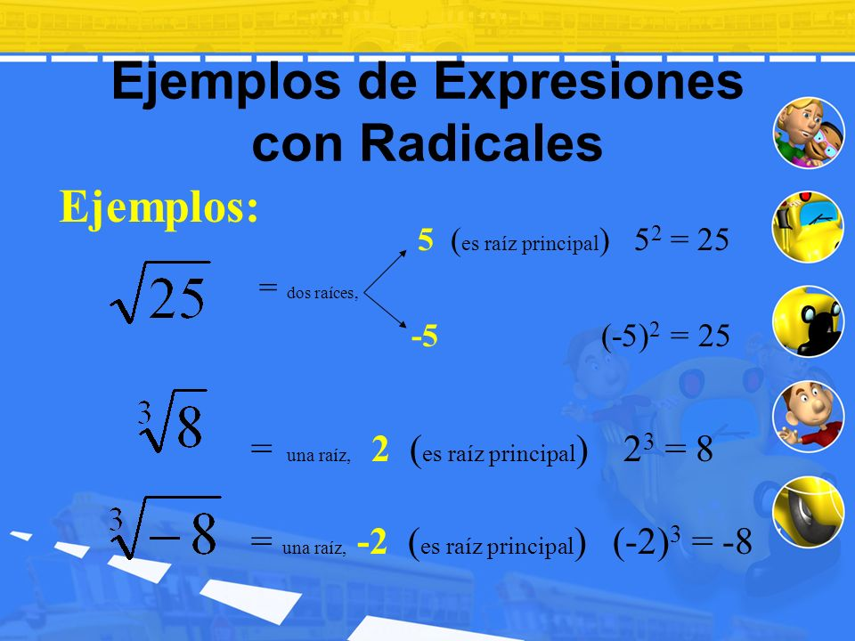 Ejemplos de Expresiones con Radicales