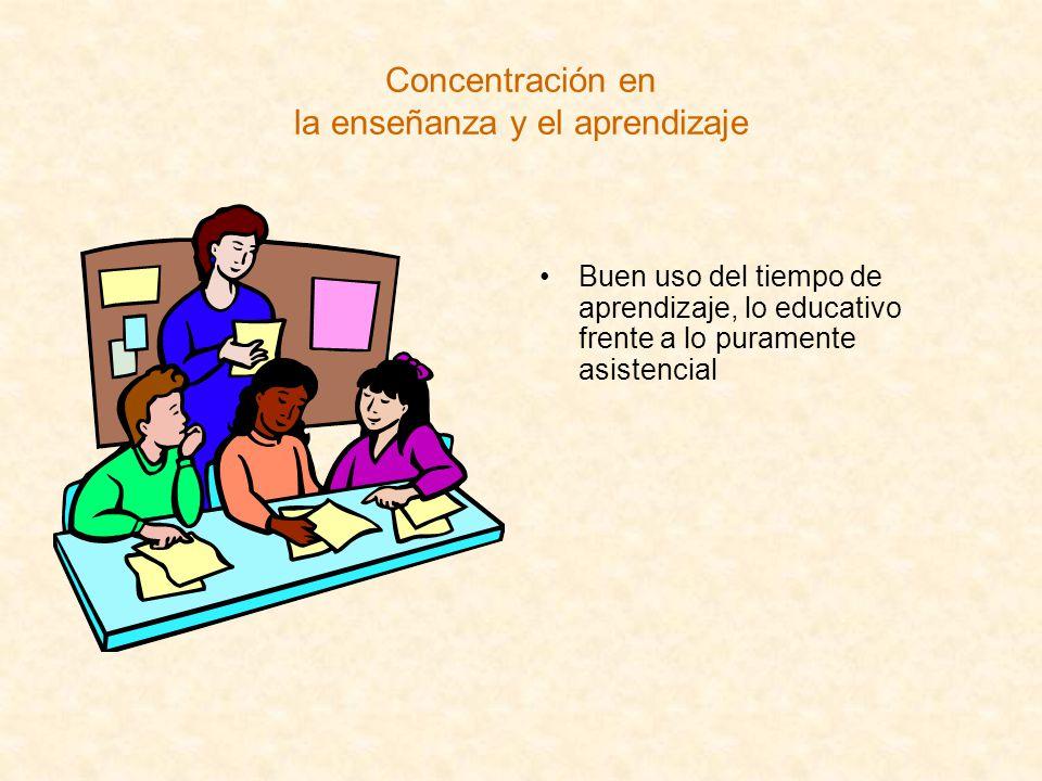 Concentración en la enseñanza y el aprendizaje