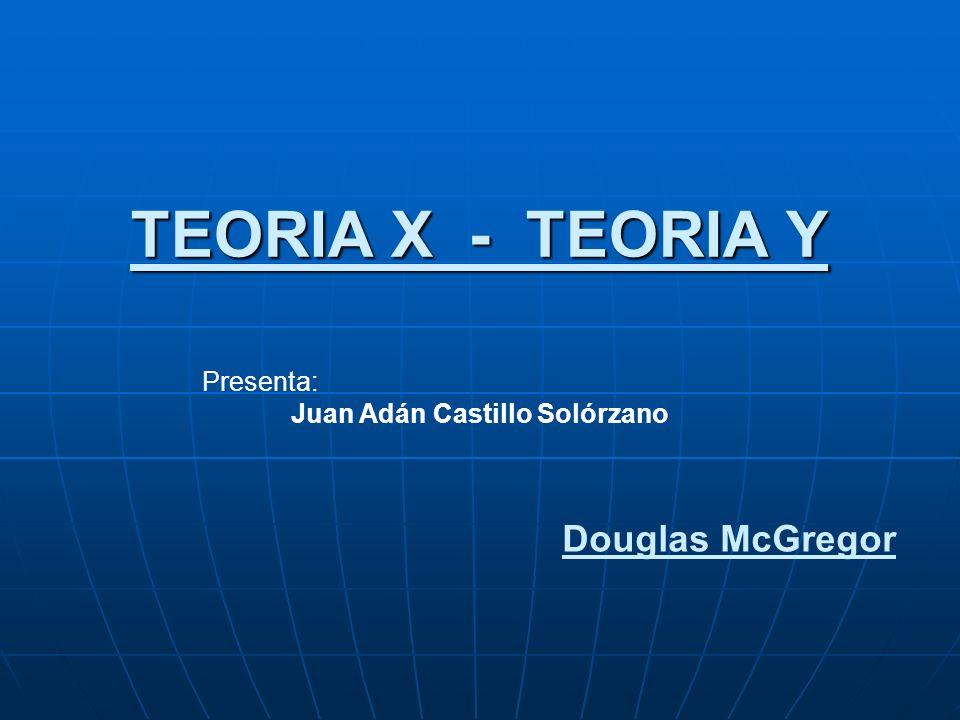 TEORIA X - TEORIA Y Douglas McGregor Presenta: