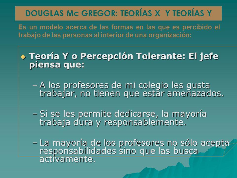 DOUGLAS Mc GREGOR: TEORÍAS X Y TEORÍAS Y
