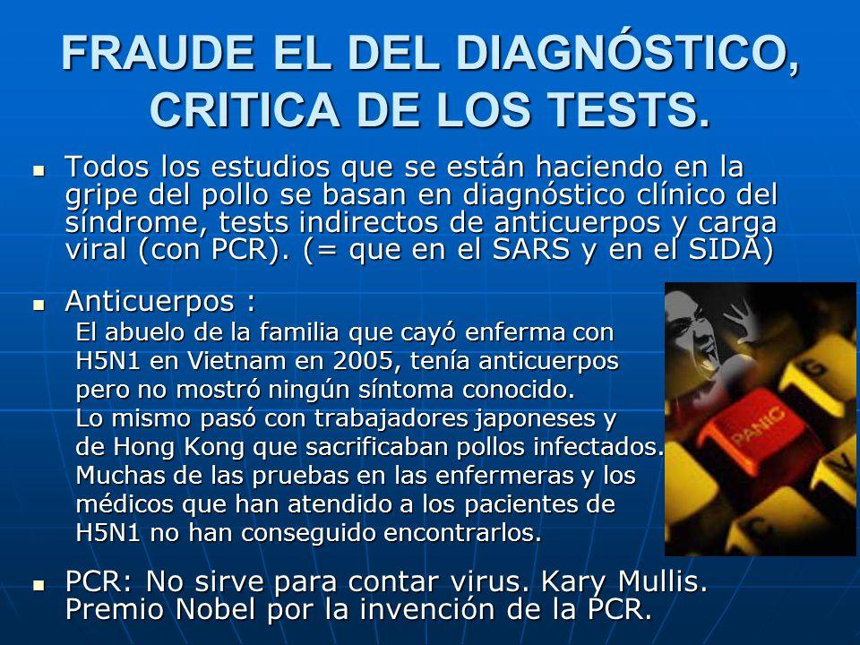 FRAUDE EL DEL DIAGNÓSTICO, CRITICA DE LOS TESTS.