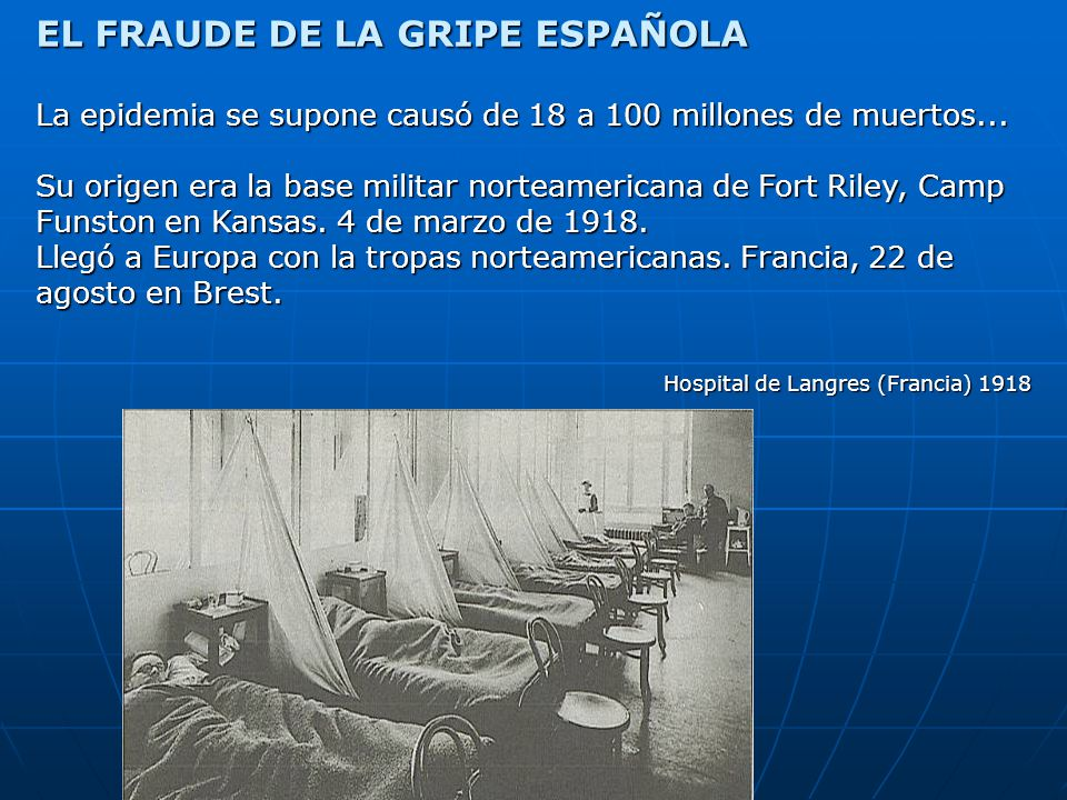 EL FRAUDE DE LA GRIPE ESPAÑOLA