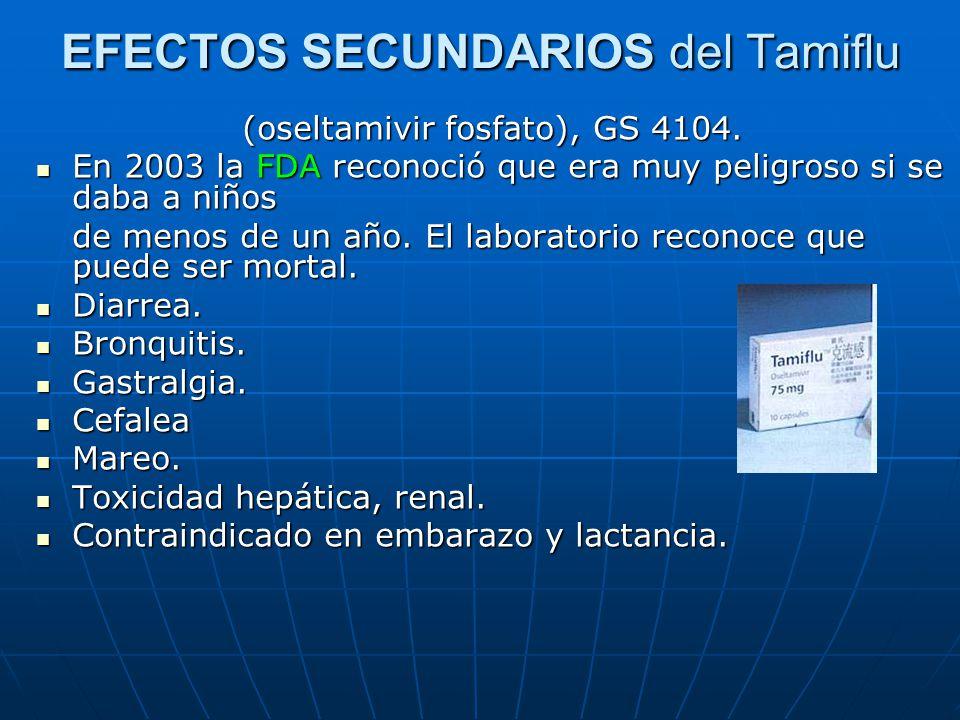 EFECTOS SECUNDARIOS del Tamiflu