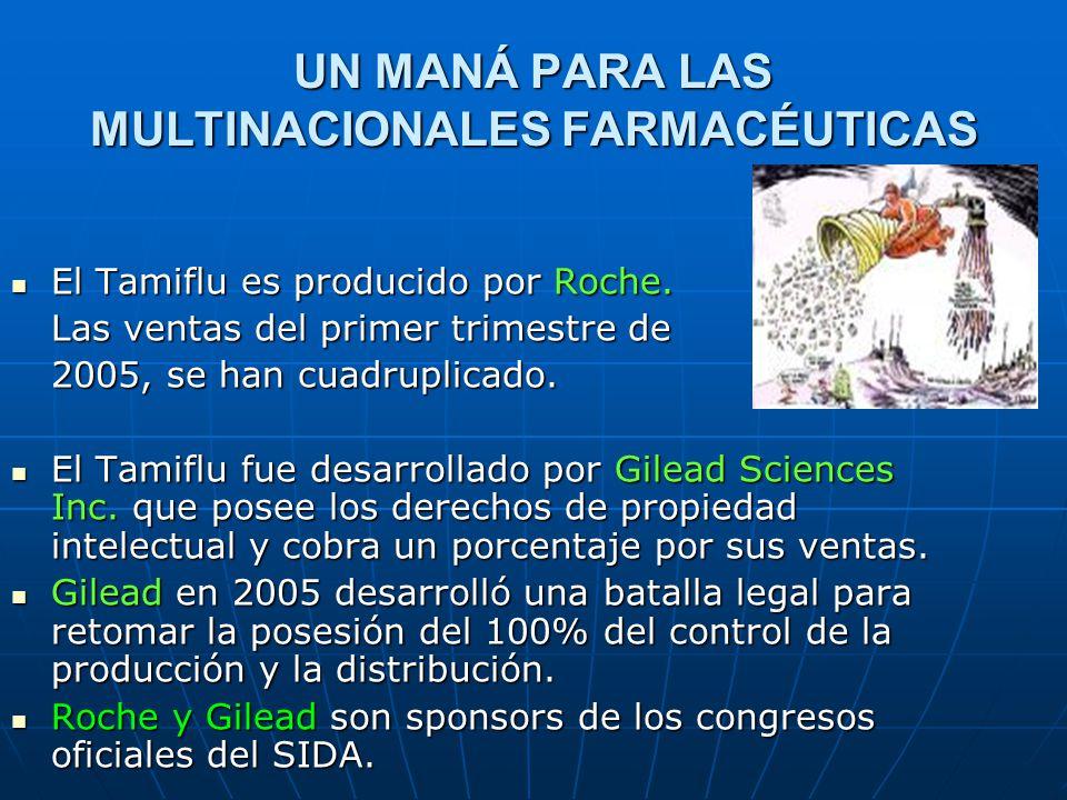 UN MANÁ PARA LAS MULTINACIONALES FARMACÉUTICAS