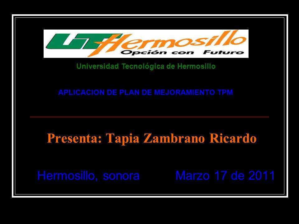Presenta: Tapia Zambrano Ricardo