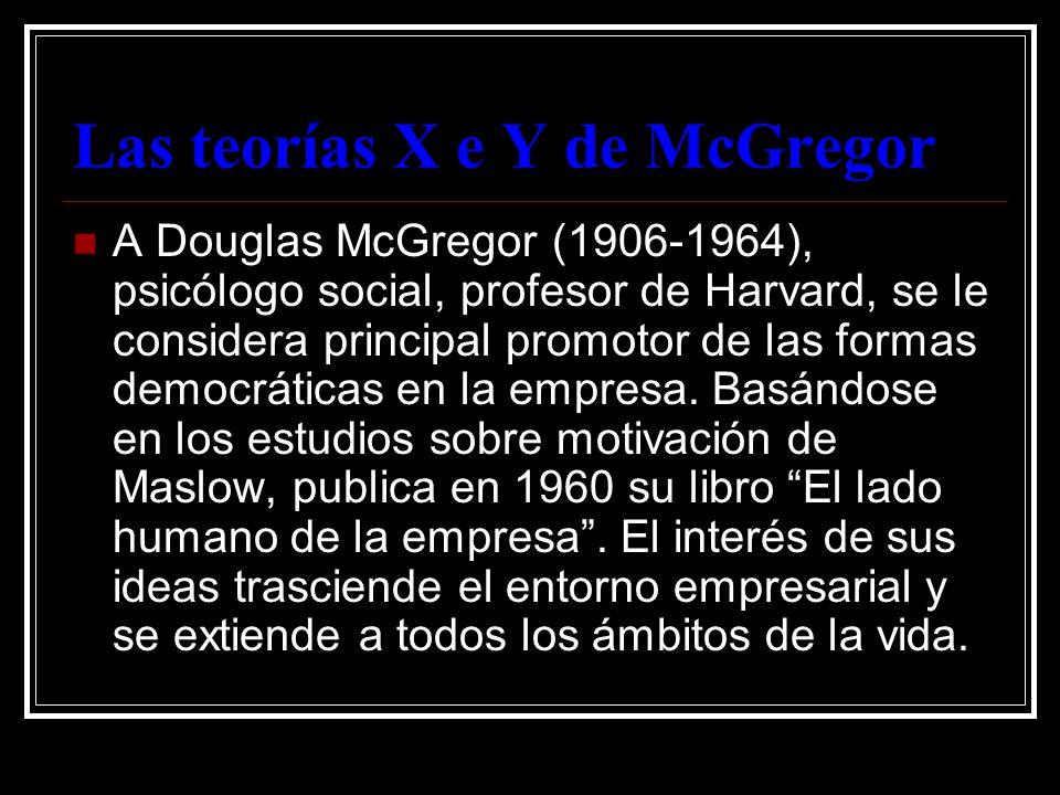 Las teorías X e Y de McGregor