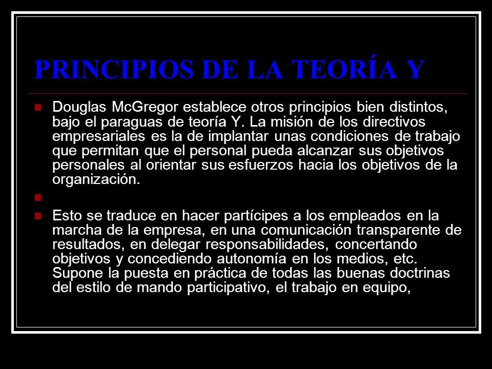 PRINCIPIOS DE LA TEORÍA Y