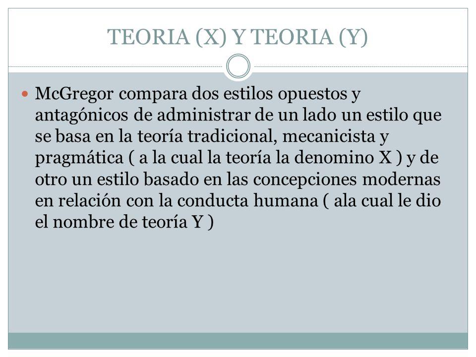 TEORIA (X) Y TEORIA (Y)