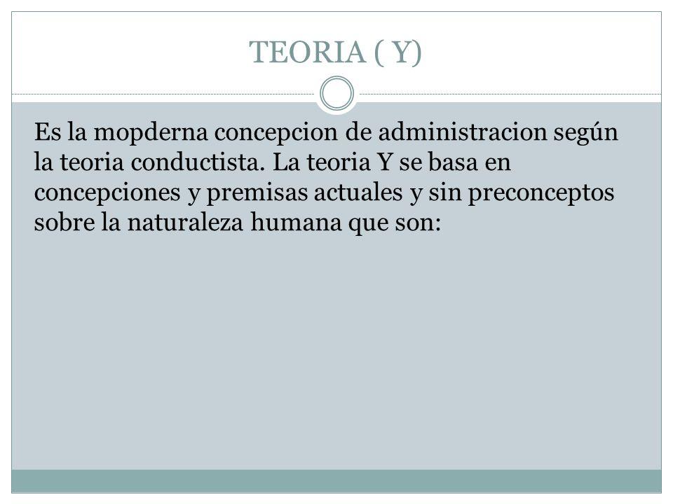 TEORIA ( Y)