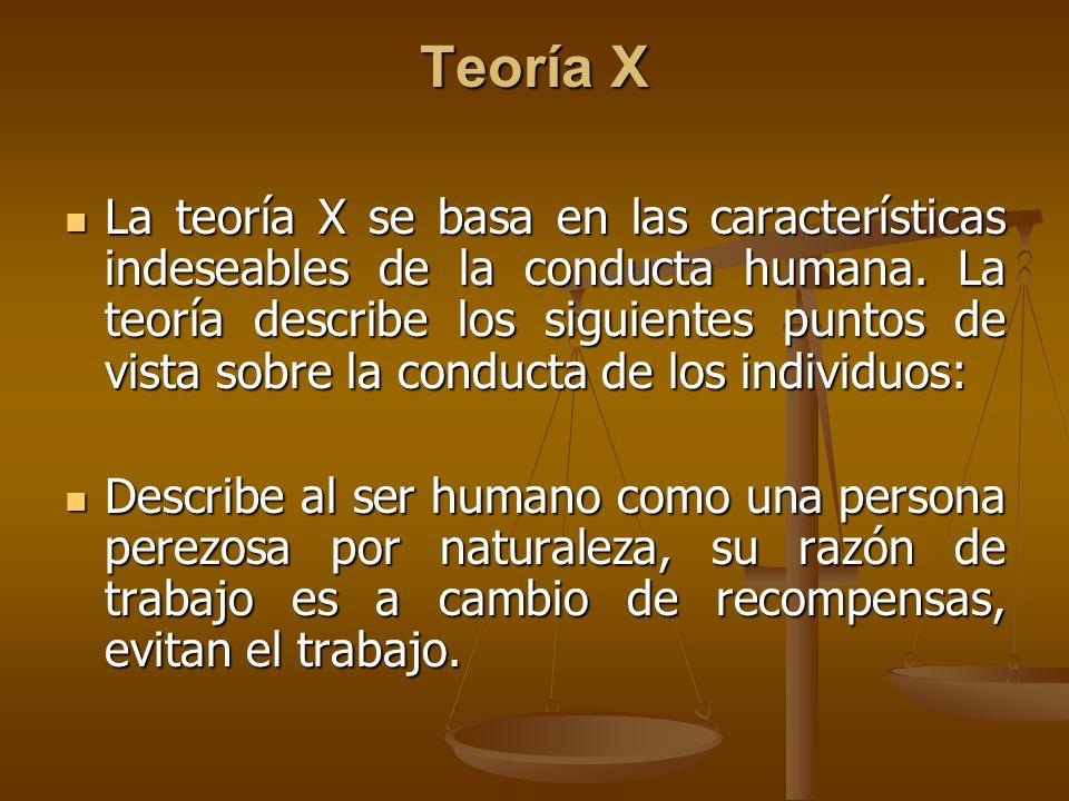 Teoría X