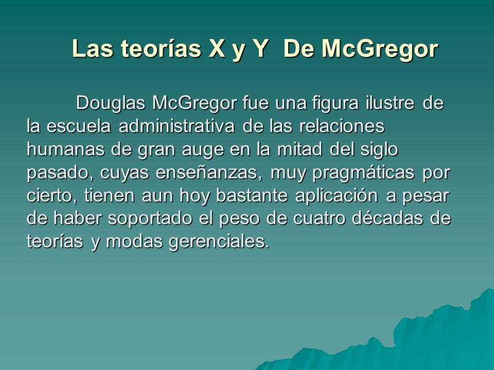 Las teorías X y Y De McGregor