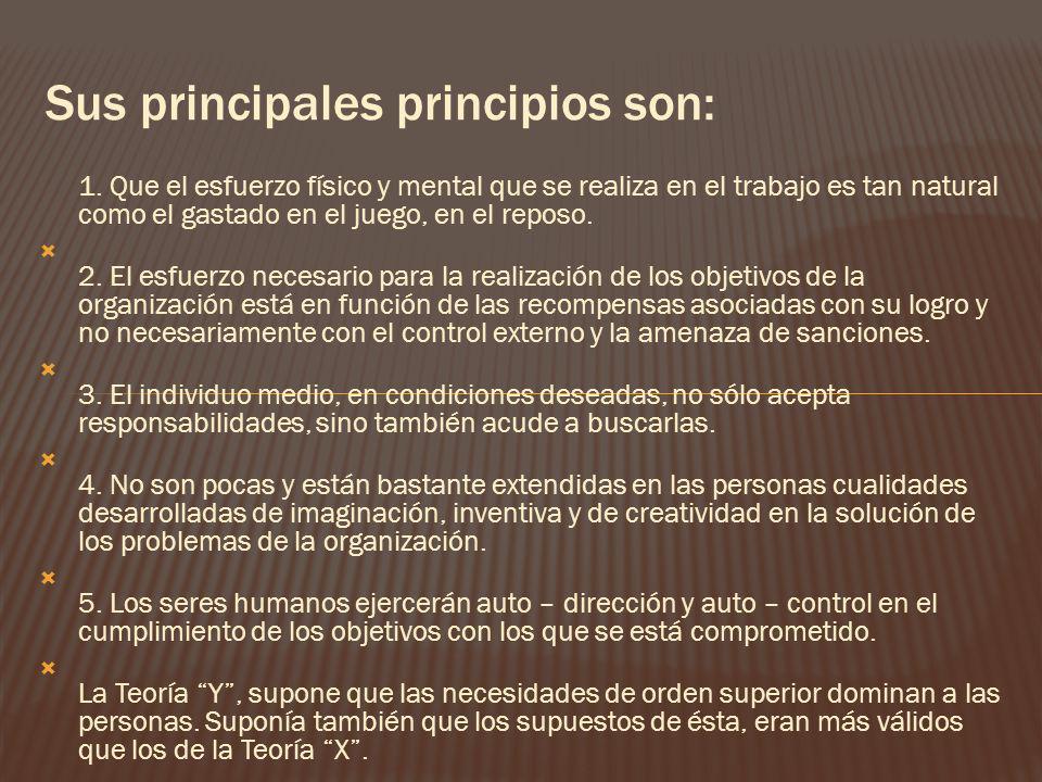 Sus principales principios son: