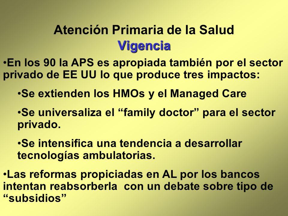 Atención Primaria de la Salud Vigencia
