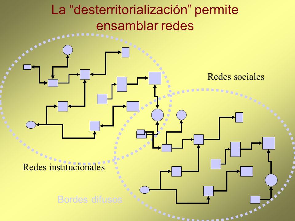 La desterritorialización permite ensamblar redes