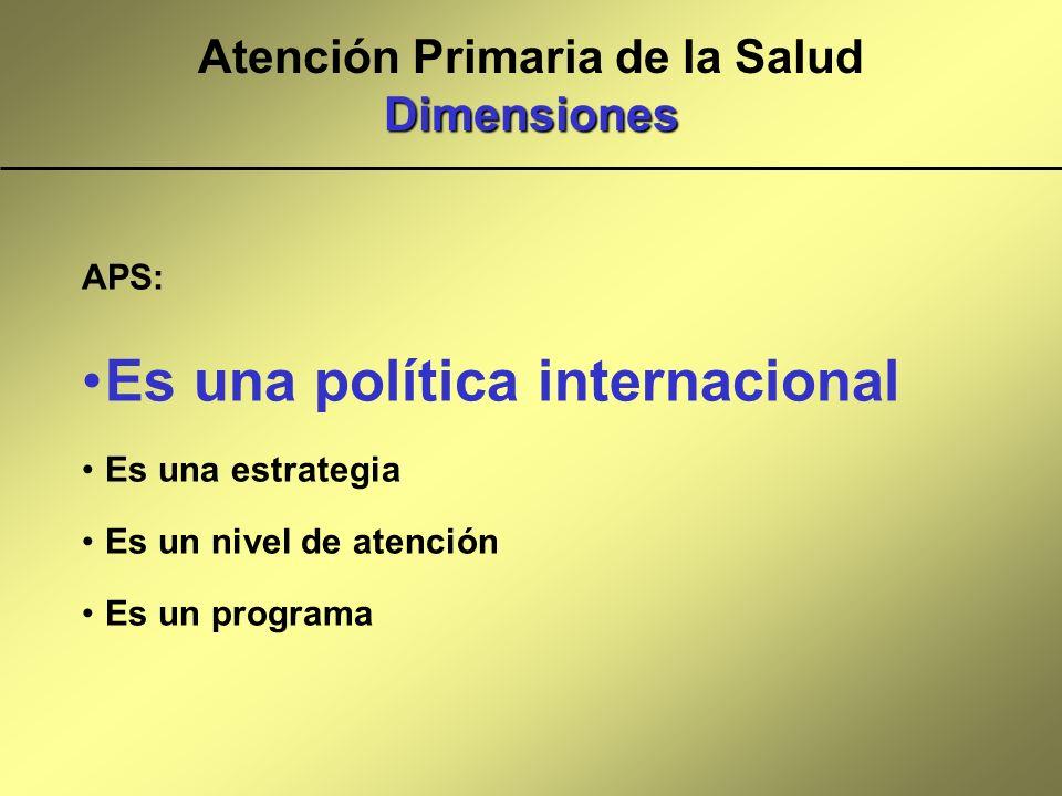 Atención Primaria de la Salud Dimensiones
