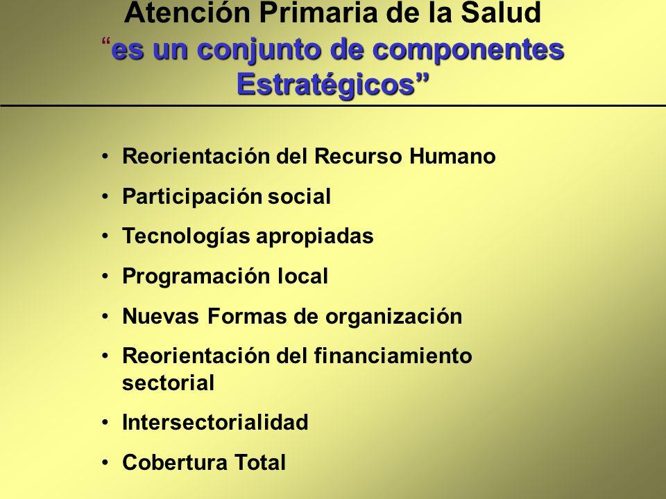 Atención Primaria de la Salud es un conjunto de componentes Estratégicos