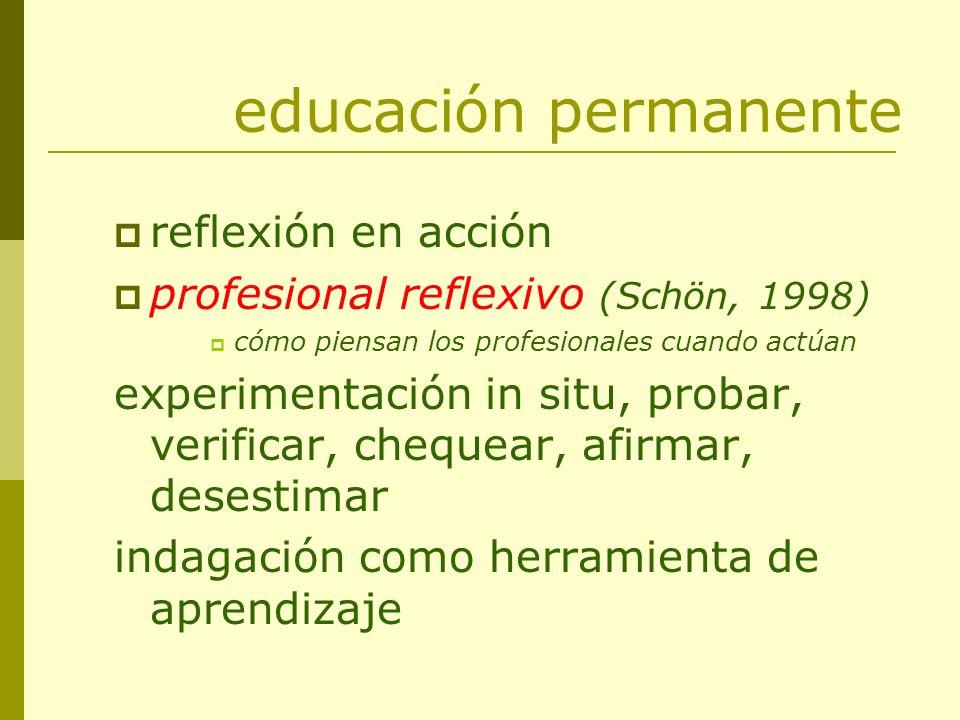 educación permanente reflexión en acción