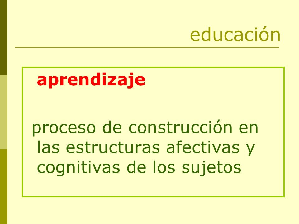 educación aprendizaje