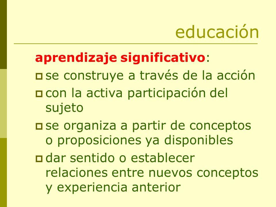 educación aprendizaje significativo: