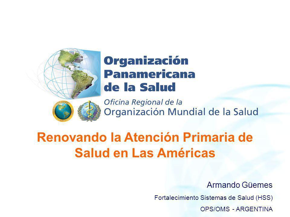Renovando la Atención Primaria de Salud en Las Américas